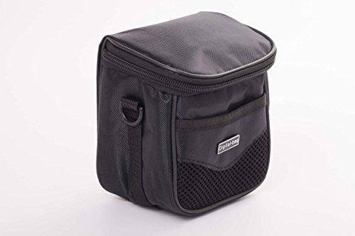 vhbw Universal Tasche Größe M schwarz für Kamera, Camcorder, Fotoapparat Canon Powershot SX540 HS, SX540HS, SX60 HS, SX600 HS, SX610 HS, SX710 HS