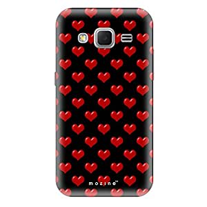 Mozine Red Love Pattern printed mobile back cover for Samsung core prime
