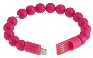 Combinazione di Lightning della sfera del braccialetto N marrone Lightning Pink
