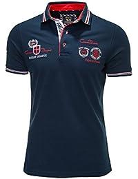 Carisma Kurzarm Poloshirts Polo in 6 Farben - Schwarz/Blau/Grau/Weiß/Coralle