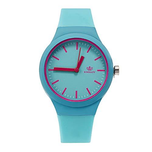 ZMBNB Damenuhr Fashion Women Watches Jelly Silicone Luxury Brand Watch Women Casual Ladies Quartz Wristwatches Clock,Blue - Womens Blue Jelly