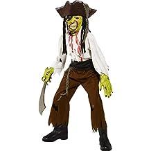 Halloween disfraces niños fiesta Scary Outfit disfraz de pirata de la garganta corte