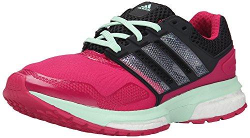 Adidas Response Boost Performance 2 Techfit W scarpa da running, blu / collegiata Navy Blue / rosa, Pink/Black/Green