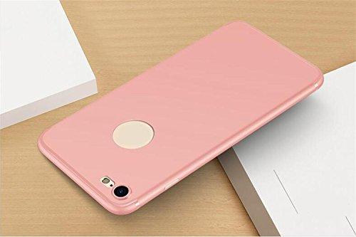 WYHYDCG 2 Stück, Ultra-dünne Matte TPU Anti-Rutsch-Gummi-Abdeckung, schützende Shockproof Gel Handy-Fall, schlanke robuste Rückenprotektor Stoßstange für Apple iPhone , Pink