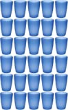 idea-station NEO Kunststoff-Becher 30 Stück, 250 ml, mehrweg, bruchsicher, blau, stapelbar, Party-Becher, Plastik-Becher, Mehrweg-Becher, Wasser-Gläser, Trink-Gläser