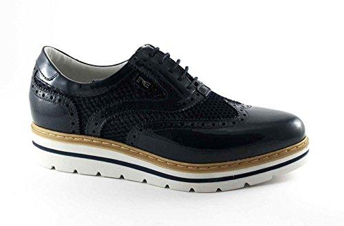 BLACK JARDINS 7212 Les chaussures en cuir bleu marine brogues lacets Anglais Blu