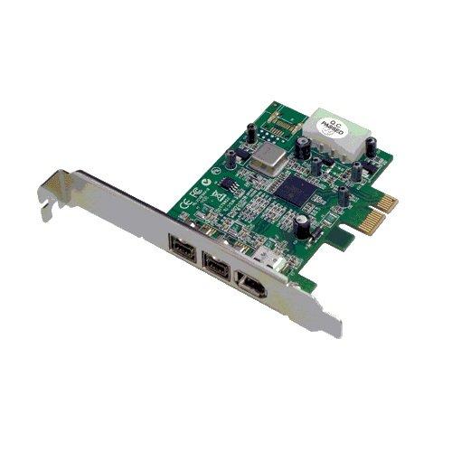 DAWICONTROL DC-FW800 PCIe Blister 2xFireWire 800 1394b 1xFireWire 400 1394a PCI-Express x1 Controller TI-Chipset Low-Profile - Pci-express-x1-karte