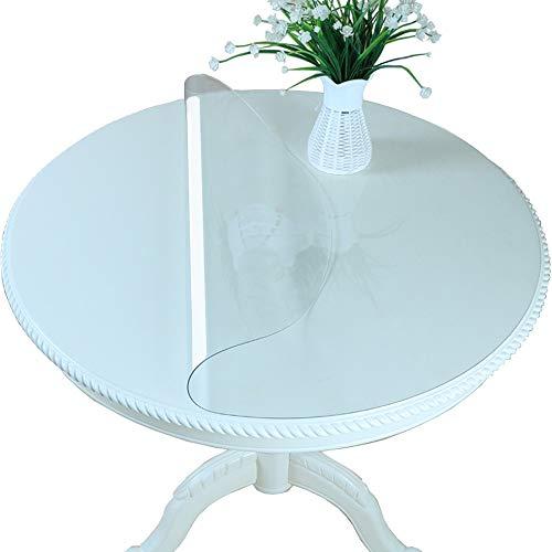 Klar Glas-schreibtisch (Gweat Runde Form Tabelle Cover Protector klar Kunststoff Tischsets Schreibtisch Pads wasserdicht 1 mm Dicke für Hotel oder Heimgebrauch (größe : 80 * 80cm))