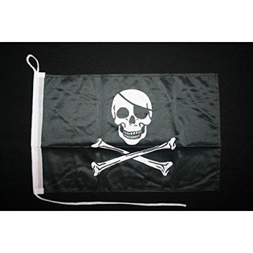 Motorrad-/Bootsflagge 25x40cm: Pirat