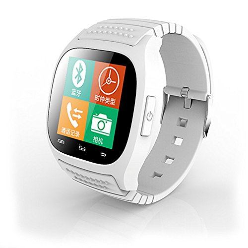Lemumu RWATCH M 26 S Wearables Smart Watch, Activity Tracker/Sleep Tracker/Wecker für Android/iOS/Windows Mobile für Android OS, Weiß Band Windows Mobile-telefon