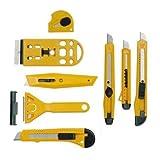 8 tlg. Cuttermesser Teppichmesser Schaber Set für Handwerker oder Hausgebrauch