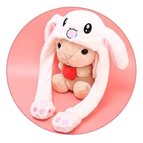 Verschieben von Kaninchen/Schwein/Huhn Hut Ohr bewegt Hut Lustige weiße Kaninchen Hut Tier Winter-Hüte für Frauen-Mädchen-Kinder
