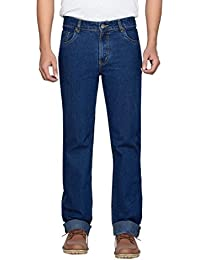 Dragaon Men's Super Stretch Relax fit Jeans-Blue