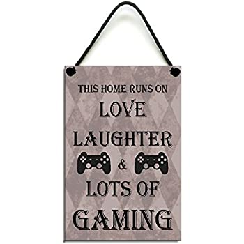 This Home Runs On Love Laughter /& Lots Of Biking Fun Gift Handmade Wooden Home Sign//Plaque 427