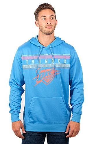 Fleece-screen-print Sweatshirt (NBA Herren Fleece Hoodie Pullover Sweatshirt Poly Midtown, Herren, Midtown Hoodie,GHM1461F-OK-Large, blau, Large)