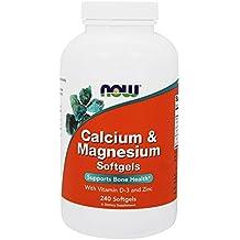 NOW Foods - calcio-magnesio con vitamina D y Zinc - 240 Cápsulas blandas