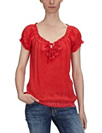 TOM TAILOR Damen Bluse, 20173970070/vintage wash carmen top