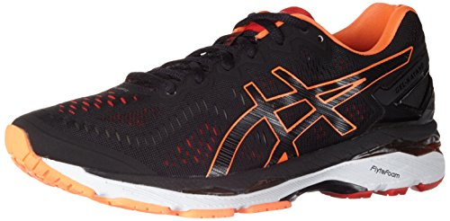 Asics Herren Gel-Kayano 23 Turnschuhe, Schwarz (Black/Hot Orange/Vermilion), 42 EU (Gel-kayano Asics)
