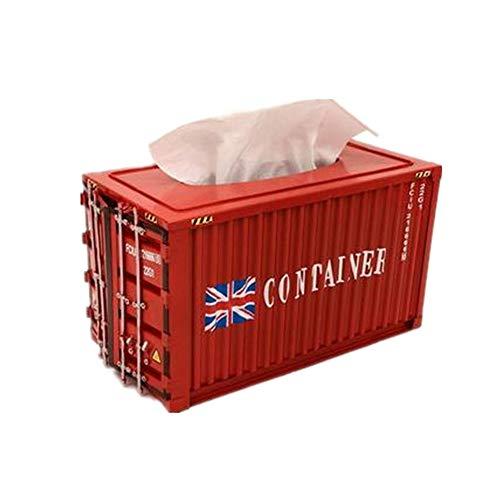 NBLYW Quadratische Metall Papier Kosmetiktücher Box, dekorative rechteckige Container, Cover Holder für Badezimmer, Schlafzimmer Kommoden, Nachttische, Schreibtische 12,59