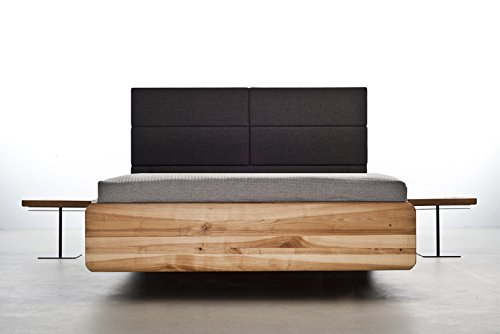 MAZZIVO BOXSPRING Hochwertiges Holz Bett schlicht & zeitlos filigran modern edel & elegant - italienisches Design 120 140 160 180 200 Überlänge Eiche Erle Buche Esche Kirschbaum (Erle, 140 x 220 cm) -