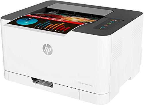 HP 150a - Impresora Láser (8 ppm Negro (A4), 4 ppm Color (A4), Apple AirPrint, Bandeja de Salida de 50 Hojas, LED, USB 2.0) Blanco