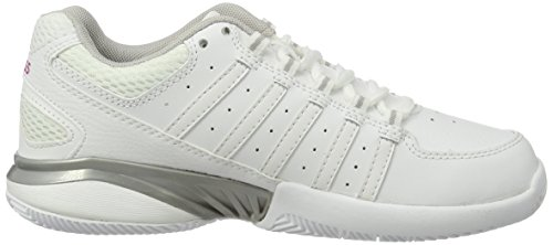 K-Swiss Performance Receiver Iii, Chaussures de Tennis Femme Blanc (White/silver/veryberry 162)