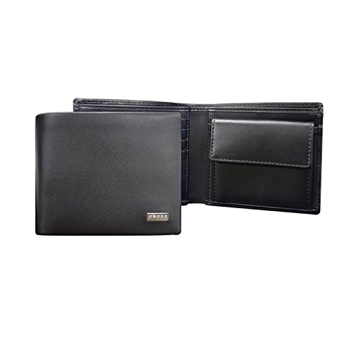 Roxy Cross (Cross Men's Artificial Leather Coin Wallet with Credit Card Slot - Cross insignia - Black - AC248072B-1)