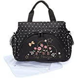 Allis Holiday Baby Changing Bag Nappy Tote (Flower, Large, 3-Piece)