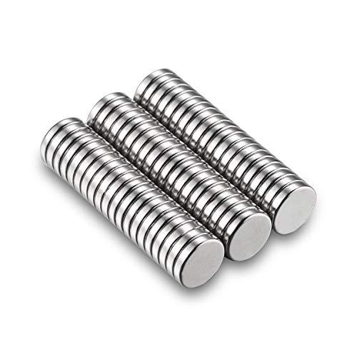 Neodym Magnete Stark 60 Stück Kühlschrank Magnete Klein für Whiteboard Pinnwand Magnettafel bänder Mini Magneten Rund 10 x 2 mm