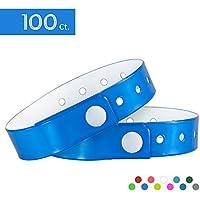 Pulseras para eventos de tres capas y resistente al agua, 100 unidades, de la marca Ouchan, azul claro
