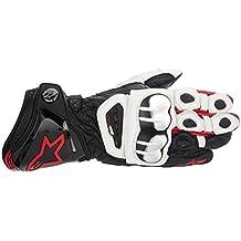 Guante de moto de piel con ventilación con protecciones Alpinestars GP Pro XL Negro Blanco Rojo