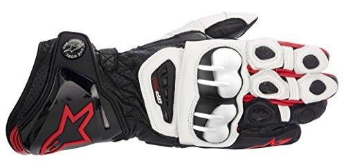Alpinestars Gp Pro Motorradhandschuhe neue Farben, Farbe schwarz-weiss-rot, Größe S
