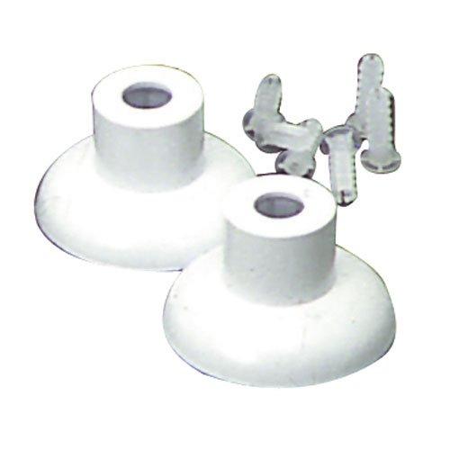 Maurer 5320135–Bad Halterungen Set aus Kunststoff chrom 12mm. (Chrom-bad-halterung)