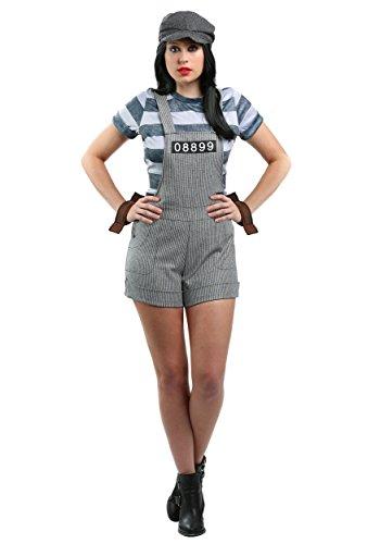 Plus Size Women's Chain Gang Prisoner Fancy dress costume (Gang Chain Kostüme)