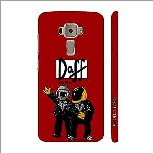 Enthopia Designer Hardshell Case Daff Punk Red Back Cover for Asus Zenfone 3 ZE520KL