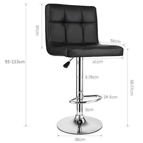 homfa 2x barhocker barst hle design hocker barsessel loungesessel mit fu ablage drehbar. Black Bedroom Furniture Sets. Home Design Ideas