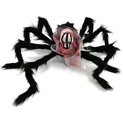 Halloween Spinne Dekorationen, spannende Plüsch Spinne Dekoration Spielzeug Terror Halloween Prop-schwarz, 40x50cm