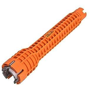 BIYI Praktischer Wasserhahn- und Spüleninstallateur Wasserhahn- und Spüleninstallationswerkzeug Küchen- und Badwerkzeug Multifunktionsrohrschlüssel (orange)