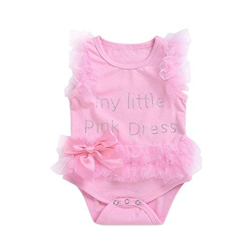 KAIROSF Baby-Mädchen-Spielanzug-Neue Geborene Kinderkleider-Overall-Bodysuit-Kleid-Kleidungs-Ausstattung