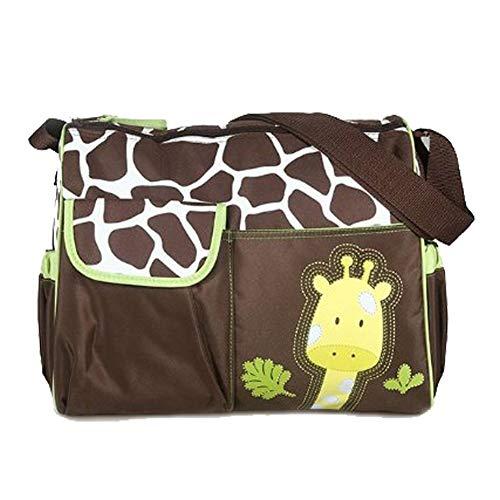 Isuper Multifunktionale Schichten Design Windel Taschen Große Kapazität Giraffe Druck Windel Tragetasche Durable Wickeltasche für Mutter