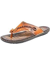 1006decf1 Boomboom Men Shoes Mens Leather Sandals Bottle Opener Casual Flat Flip Flops  for Men with