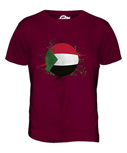 CandyMix Sudan Fußball Herren T Shirt Burgunderrot