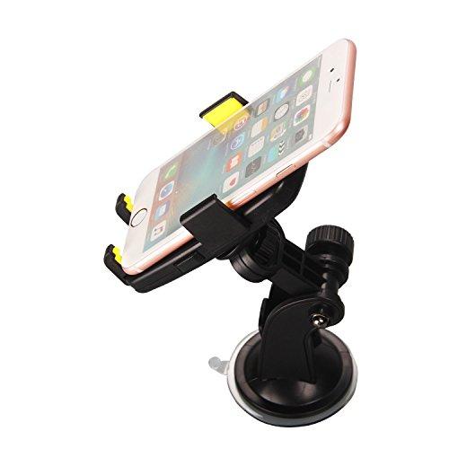 Timorn Universal Docking-Station Einstellbare Windschutzscheibenhalter Cradle / KFZ-Halterung Grip Pro 2 Armaturenbrett Auto-Telefon-Halter mit starker Sticky Gel-Auflage für iPhone 6S / 6s Plus / 6/6 Plus / 5S / 5C / SE, Galaxy Note 4/3, Galaxy S5 S6 / S6 Rand / S7 / S8 Rand und andere Smartphone- (Gelb) Viewing Station