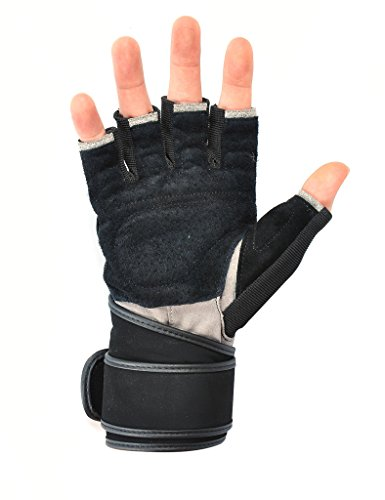 Jimmy-Design-Womens-Mens-Crossfit-Fitness-Weight-Lifting-Glove-with-Long-Wrist-Wrap-Support-Red-XL