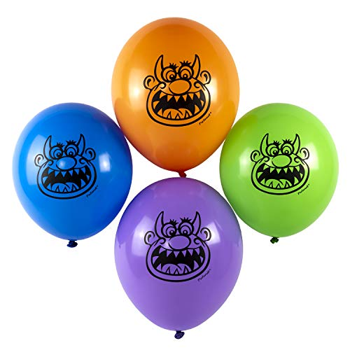 nster Luftballons Monsterparty Kindergeburtstag Halloween 12 Stück ()