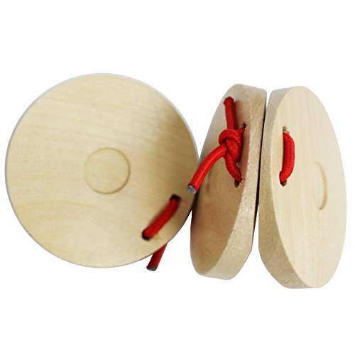 A-Star Wooden Finger Castanets - Pair