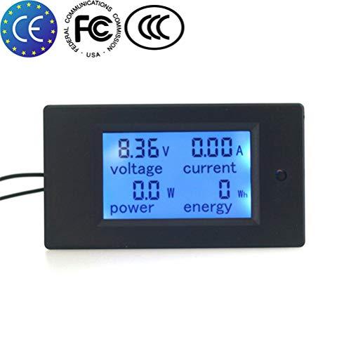 KETOTEK Voltage Spannung Ammeter Meter Shunt Leistungstester Energiezähler Digital DC 6,5-100 V 100A Voltmeter Volt Ampere Multimeter LCD Spannungsprüfer (Multimeter) -