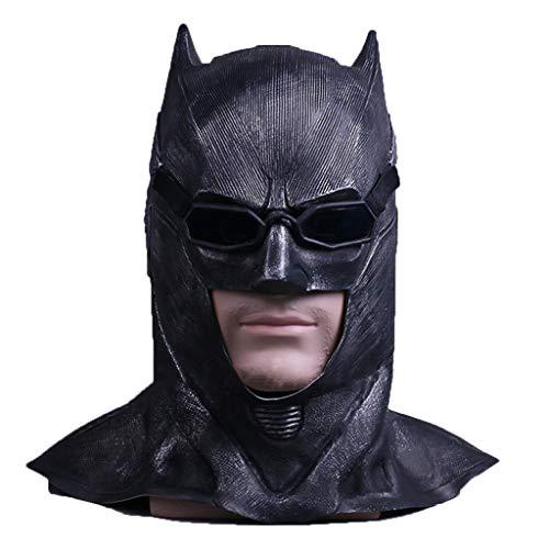 SDKHIN Batman Maske Batman Dark Knight Schwarz Batman Dark Knight Cosplay Maskerade Maske,Black-OneSize (Kostüm Batman Replik)