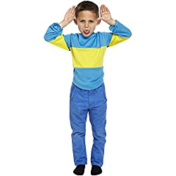 Disfraz para niños con rayas azules y amarillas – Jersey Ideal para la Semana del Libro
