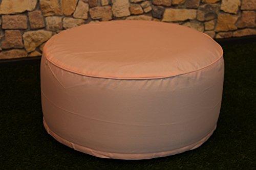 Sitzhocker / Sitzkissen - OUTDOOR POUF - Höhe ca. 25 cm Breite ca. 55 cm - schmutzabweisend und wasserabweisend - LOTUS EFFEKT - wetterfest - leicht faltbar und zu verstauen für Reisen, Camping oder Konzerte/ Festivals - ( OUTDOOR ), perfekt geeignet als Bodenkissen, Bodensack, Boden - Sessel oder Sitzsack, auch schön als Terrassen - Stuhl, Wintergarten - Möbel / Sitzkissen / Sitzsack mit Lotus - Effekt für Haus, Camping und Garten , hier ein tolles Motiv : (Coral)
